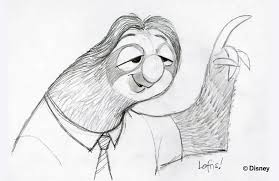 learn to draw flash the sloth from disney u0027s zootopia the disney blog