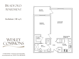 bradford floor plan apartments u2013 wesley commons