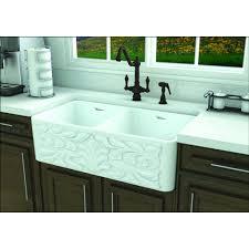whitehaus gothichaus reversible series fireclay double bowl sink white
