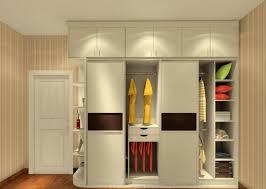 elegant beige finish mahogany wardrobe be equipped multiple