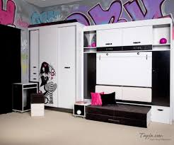 inspiring bedroom color for a teenage black and white