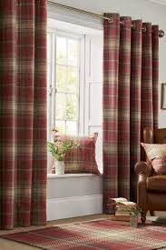 Mauve Curtains Next Buy Red Woven Check Stirling Eyelet Curtains From The Next Uk