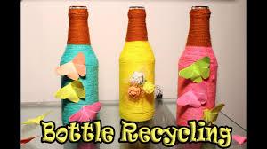 diy wine bottle home decoration idea upcycle glass bottles