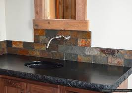 Slate Tile Backsplash Pictures And by Brown Gray Subway Slate Backsplash Tile Backsplash Com
