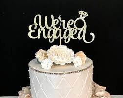 a and we re cake topper engaged cake topper etsy