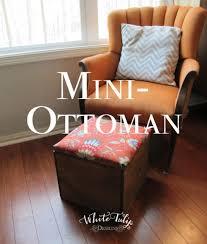 mini storage ottoman white tulip designs