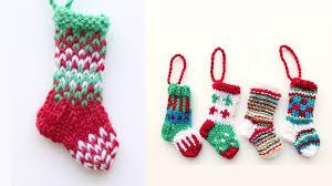 mini christmas stocking 1 knitting tutorial youtube