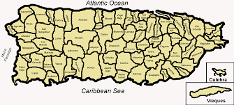 Puerto Rico Beaches Map by Crim De Mayaguez Map Descripcin Map Of The 78 Municipalities Of