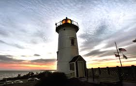 sunset at iconic nobska light in woods hole ron schloerb cape cod