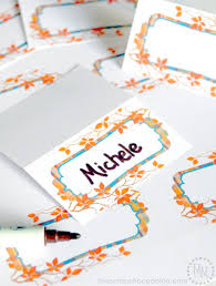 Design Your Own Place Cards Perfectly Plaid Thanksgiving Place Cards The Scrap Shoppe