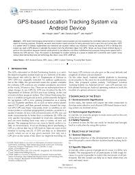 gps based location tracking system via android device pdf