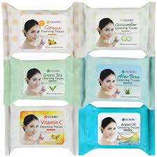 epielle assorted makeup remover cleansing tissues wipes 30 counts