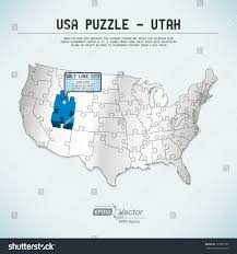 Utah Map Usa by Usa Map Puzzle One State One Puzzle Piece Utah Salt Lake City