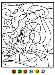 coloriage magique addition écureuil mon coloriage en ligne gratuit