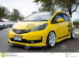 tuned cars tuned car honda jazz editorial stock image image 38714004