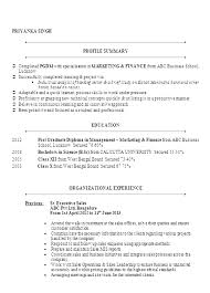 sample resume for mba marketing experience creative finance resume sample doc mba marketing finance resume