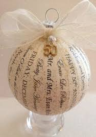 25th wedding anniversary christmas ornament 30th anniversary christmas ornament 4 styrofoam covered in