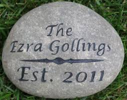 engraved garden stones personalized garden stones