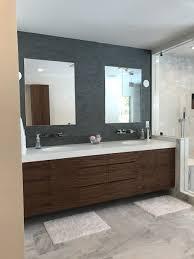 Walnut Bathroom Vanity Walnut Bathroom Vanity With Modern Inset Handles Direct