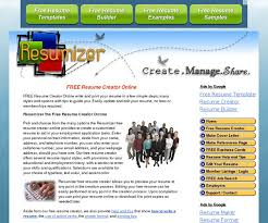 Resume Creator Online by Free Resume Builder Sites Resume Cv Cover Letter