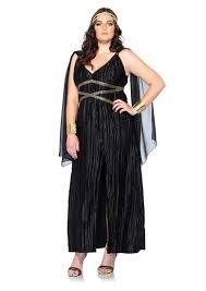 halloween costumes plus size black 3 pc dark goddess costume amiclubwear costume online store