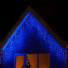 360 led blue icicle snowing lights outdoor ebay