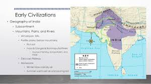 Brahmaputra River On Map Early Civilizations Geography Of India Subcontinent Mountains