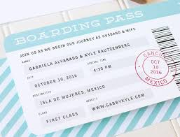 Boarding Pass Wedding Invitations Boarding Pass Wedding Invitation Destination Wedding Invitations
