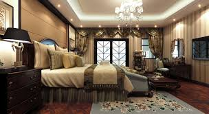 fully furnished luxurious bedroom with big bed 3d model max