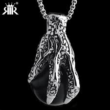 black stone pendant necklace images Rir gothic biker top quality black stone dragon claw pendant jpg