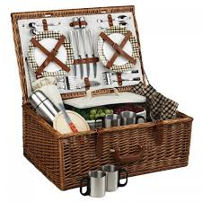 at ascot dorset style willow picnic basket with service