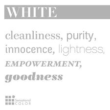 words that describe white sensational color