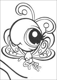 littlest pet shop color cartoon characters coloring pages