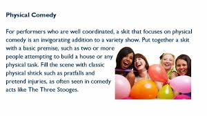 variety show skit ideas youtube
