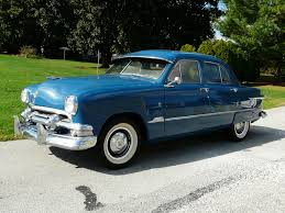 sedan 4 door 1951 ford custom 4 door sedan blue