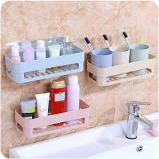 Bathroom Storage Rack Self Adhesive Kitchen Storage Box Organizer Toilet Bathroom