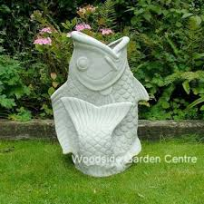 enigma koi fish planter resin marble garden ornament woodside
