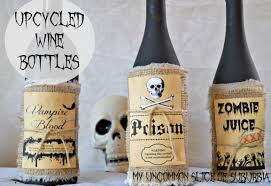 halloween wine bottle labels upcycled potion bottles