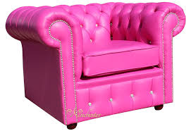 Pink Armchairs Chesterfield Crystallized Swarovski Elements Low Back Armchair