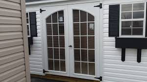 Gray Siding White Trim Black by In Stock Sheds U0026 Gazebos Available For Delivery In About One