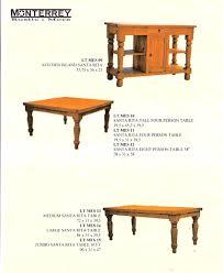 santa rita dining room tables u2013 monterrey rustic furniture