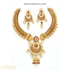 gold har set 22k gold necklace sets indian gold jewelry from totaram jewelers