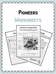 pioneer facts information u0026 worksheets pdf classroom worksheet