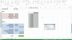 one way data table excel excel 2016 one way data tables youtube