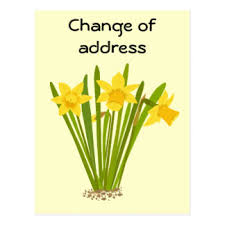 custom change of address postcards zazzle co uk