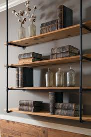 Industrial Bookcase Diy Astonishing Hanging Book Shelves Photo Ideas Tikspor