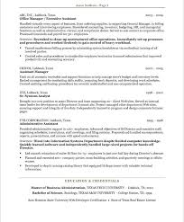 exle of assistant resume administrative assistant resumes node2004 resume template