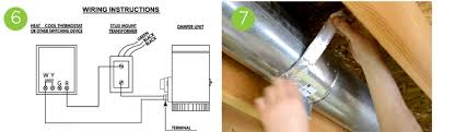 how to install an air duct damper smarthome solution center