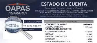 formato de pago del estado de mexico 2015 servicios oapas naucalpan