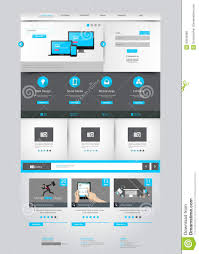 one page business website template home page design clean and